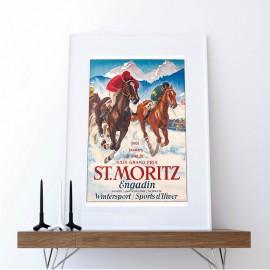 Pferderennen auf dem gefrorenen St. Moritzersee