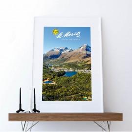 St. Moritz mit Seenlandschaft Herbst