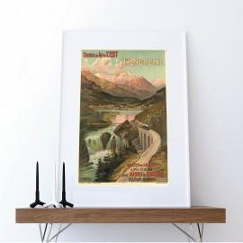 Bahnreise nach St. Moritz