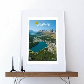 St. Moritz mit Seenlandschaft Sommer