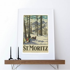 Poster St. Moritzer Wald
