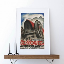 Poster 2. international St. Moritz car week 1930