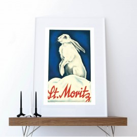 Poster Snow rabbit