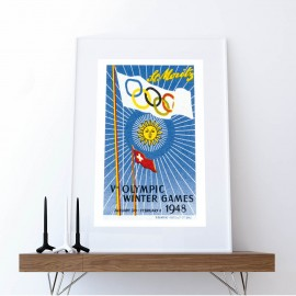 Poster Olympic Winter Games St. Moritz 1948 II