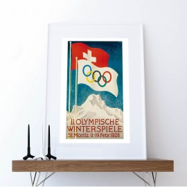 Poster Olympic Winter Games St. Moritz 1928
