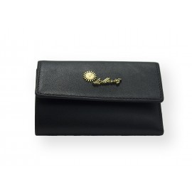 St. Moritz leather key fob with banknote and credit card pocket